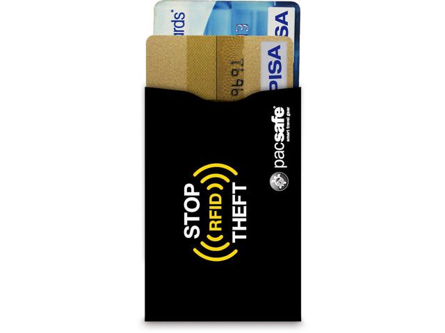 Pacsafe RFIDsleeve 25 Custodia anti clonazione per carta di credito Pacco da 2, black